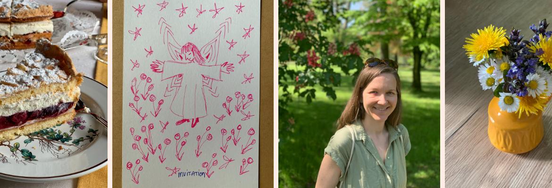 Blog Header - Torte - Einladung - Sarine - Blumen